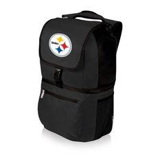 NFL Collectibles - Zuma Cooler Backpack (Pittsburgh Steelers) Digital Print - Black