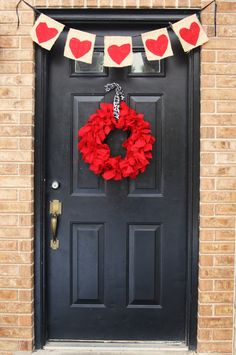 Cute Valentine wreath - Duct tape a pool noodle together to use as a wreath form - GENIUS!
