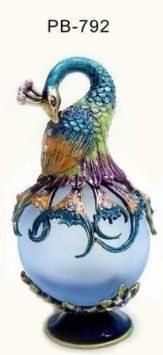 Welforth Blue Peacock Perfume Bottle