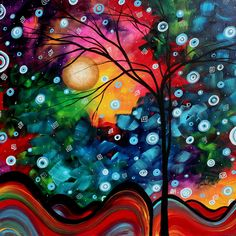 I am in love with abstract art I would love to have this hanging in my house to look at.