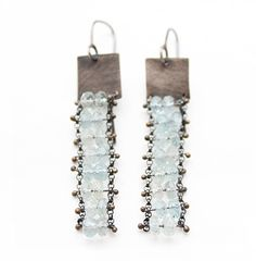 Image of Long Rectangle earrings