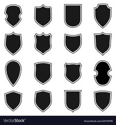 Gray label signs isolated on white background. Symbol of protection, arms, security, safety. Ar Logo, Gray Label, Owl Photos, School Logo, Shape And Form, Icon Set, Retro Style, Vector Free, Royalty Free Stock Photos