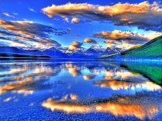 Beautiful reflection, Glacier lake, Alaska
