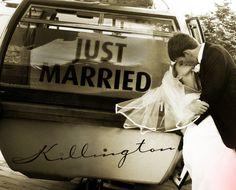 'Just Married' Gondola Ride at Killington Resort