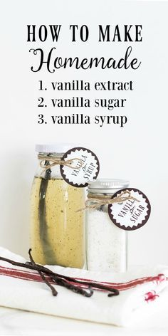 3 Ways to Use Vanilla Beans | How to Make Homemade Vanilla Extract, Vanilla Sugar and Vanilla Syrup. Great for holiday gift giving! #Sponsored