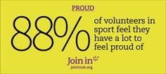 of volunteers in sport feel they have a lot to feel proud of. Running Club, Self Promotion, Runners World, Volunteers, Are You Happy, Branding, Hero, Feelings, Sports