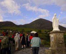 Croagh Patrick, Ireland – http://www.pilgrim-info.com/europe/ireland/croagh-patrick-ireland/