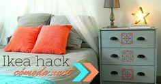 Aprende cómo customizar tu cómoda rast de Ikea con este Ikea hack. www.manualidadesytendencias.com #ikea #hack #cómoda #rast #diy #manualidades #customizar #boho