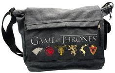 Game Of Thrones Axelremsväska Game Of Thrones Sigils, Game Of Thrones Tv, Dark Side, Nerd Merch, Large Messenger Bags, Star Wars, Sign Printing, New Bag, Cool Things To Buy