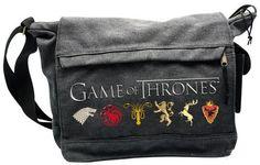 Game Of Thrones Axelremsväska Game Of Thrones Sigils, Game Of Thrones Tv, Dark Side, Nerd Merch, Flag Display Case, Large Messenger Bags, Star Wars, Sign Printing, Cool Things To Buy