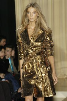 Gold trench coat~love this