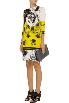 PRABAL GURUNG Floral-print modal-blend jersey dress