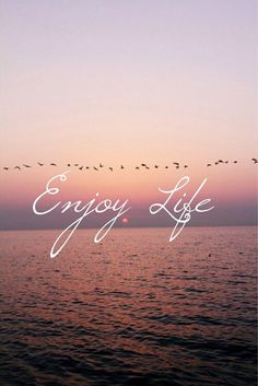 ♪ | via Tumblr #quote #life #beach #background