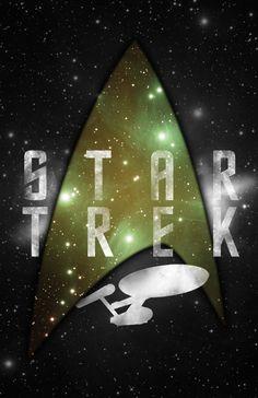 Minimalistic Star Trek poster.