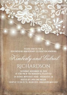 25th Anniversary Invitations PRINTABLE 25th Wedding Anniversary