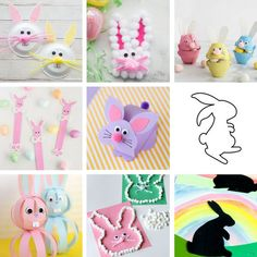 Over 25 of the Best Easter Crafts for Kids - Easter Bunny, Easter chicks, Easter eggs, Easter basket crafts and more! Easy Easter craft ideas for kids perfect for toddlers or preschool too. Easter Arts And Crafts, Easter Crafts For Toddlers, Paper Plate Crafts For Kids, Spring Crafts For Kids, Bunny Crafts, Easter Crafts For Kids, Toddler Crafts, Preschool Crafts, Easter Ideas