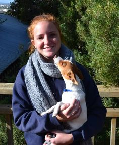 PUPPY LOVE: Port Lincoln High School student with her new puppy, Honey, was diagnosed with Cystic Fibrosis at just eight weeks old.
