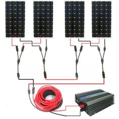 Large USA style solar kit mono solar panel system with grid tie invertor# * Off Grid Solar Power, Solar Power Energy, Solar Energy Panels, Solar Panel Kits, Solar Panel System, Panel Systems, Homemade Wind Turbine, Portable Solar Panels, Solar Generator