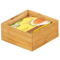 Bambusowy pojemnik do przechowywania, cm, ZELLER Container, Design, Html, Crates, Wood, Bamboo, Woodwind Instrument, Atelier