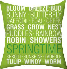 Spring Things Outdoor Throw Pillow