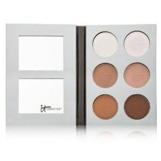 It Cosmetics My Sculpted Face Palette 1 ea by It Cosmetics. $38.00. My Sculpted Face teaches you step by step how to contour features of your face for the appearance of a slimmer look, a straighter nose, slender cheeks, more prominent cheekbones and even the appearance of a reduced double chin!The palette comes with 4 contouring shades designed to match all skin tones.The palette comes with 2 highlighting shades in both shimmer and matte.My Sculpted Face comes w...