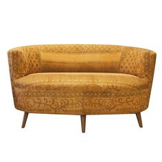 orange patchwork chair covered with overdyed vintage rug. Black Bedroom Furniture Sets. Home Design Ideas
