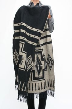 An oversized scarf/shawl in an awesome tribal print