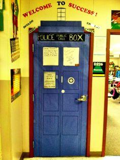 tardis door decorations for school | Classroom Door Decorations
