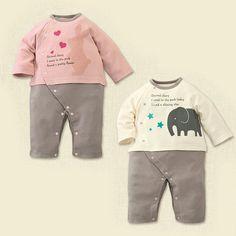 Newborn Baby Girls Bodysuit Short-Sleeve Onesie Astronaut Fire Stone Print Rompers Summer Pajamas
