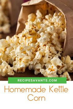 Homemade Kettle Corn Bring the fun flavors of a carnival to your family with a homemade batch of kettle corn! The classic sweet & salty snack only takes a few minutes to prepare and is perfect for family game or movie night. Homemade Kettle Corn, Food Humor, Funny Food, Pesto Grilled Cheeses, Bbq Pork Ribs, Salty Snacks, Recipe Instructions, World Recipes, Quick Easy Meals
