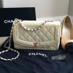 Chanel Classic Quilted Handbag In EUC! Just got this back from my local Chanel Boutique yesterday (had this sent to The Chanel Factory for a complete refurbishment-- so yes, 100% authentic and in better condition than most used Chanel handbags!) Chanel completely replaced all gold hardware, most of interior leather & the leather & chain shoulder strap (It's brand new!)! Couldn't do much to the patent- it's in overall great condition, but is slightly darker & worn from age (see vs. new…