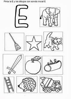 Mis recursos didácticos: Láminas para trabajar la vocal E Dual Language, Language Arts, Spanish Activities, Activities For Kids, Letter E, Spanish Language Learning, Kids Learning, More Fun, Marie