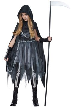 Reaper Girl Child Costume #scary #halloween #costumes