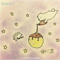 Full moon sundae with star sprinkles