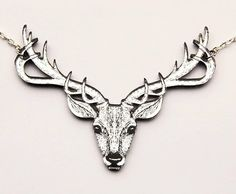 You can now order the stag necklace with black engraving in the mirrored acrylic it's a totally different (and totally beautiful) Beast! #statementnecklace #obscenerie #madebyme #madeinscotland #scotland #stag #deer #antlers #nature #necklace #jewellery #jewelry #handmade #lasercut #edinburgh by obscenerie_jewellery