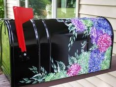 Painted Mailbox - Hummingbirds - Arts by the Kickapoo