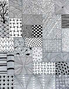 Check Out These Zentangle Fill Patterns for Your Next Tangle Work. Think Bigger or Smaller, Considering Your Next Work of Art! Tangle Doodle, Doodles Zentangles, Zentangle Drawings, Zen Doodle, Doodle Drawings, Doodle Art Designs, Doodle Patterns, Zentangle Patterns, Dibujos Zentangle Art