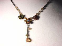 Liz Palacios Crystal Flower Necklace  #LizPaiacios #Chain