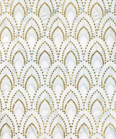If only I had a house to spend too much money redecorating... Nadja by Mosaique Surface made of Calcatta Oro & Brass
