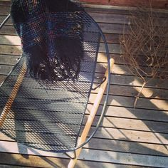 Volley Rocker designed by Adam Goodrum for Tait I Catching the Autumn rays on the deck.