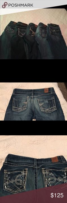 SALE Miss me and BKE JEANS BUCKLE BIG CUT!! BKE MISS ME jeans 26-28. The 26 are crops. The miss me are 28. I'm 5'5 all are long. Buckle Jeans Boot Cut