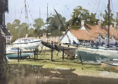 Ian Michael McManus - Watercolour Artist Yard, Watercolor, Gallery, Outdoor Decor, Artist, Boats, Ships, Paintings, Pen And Wash