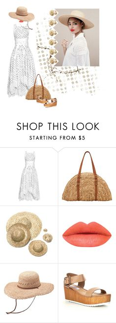 """""""White & Straw"""" by petalp ❤ liked on Polyvore featuring Zimmermann, San Diego Hat Co., Darice, Peter Grimm and Steve Madden"""