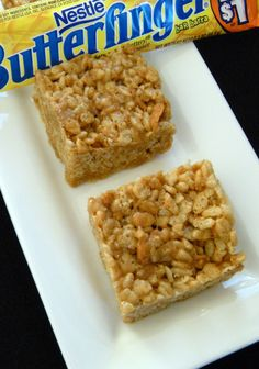 Butterfinger Rice Krispie Treats - those favorite Rice Krispie treats mixed with Butterfinger candy bars for an extraordinary treat!