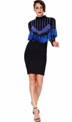 a9d2c92875b92a Balmain inspired long sleeve tassel studded crop top Details  Nylon