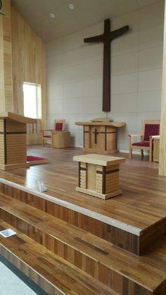 함덕교회 강단 공사