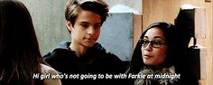 1 of 2: eyes down. Farkle might really like smackle but he loves Riley
