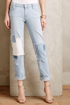 Paige Jimmy Jimmy Patched Jeans - anthropologie.com #anthrofave