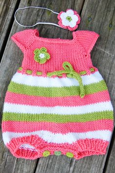 Hand Knit Bubble Romper available in sizes NB to 18 to 24 months in ANY COLORS coming home outfit