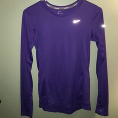 Purple Nike dry fit top NO TRADES❌ all offers considered Nike Tops Tees - Long Sleeve